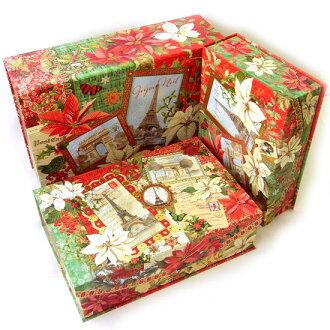 punch studio flip top parisian holiday punch studio christmas storage case gift box a storage box set