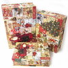 [Punch Studio] flip top Christmas fish basket avian Ann punch studio storage case gift BOX, storage box .2012 Christmas collection