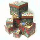 [Punch Studio]廃番在庫限り 超限定品!キューブボックスボックス7点セットキティクリスマスパーティー猫・ねこ・ネコ・キャット・CAT