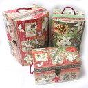 限定品トレジャーチェストBOXセット スノー ピースフル[PunchStudio]パンチスタジオ・クリスマス・トランク収納ボッ…