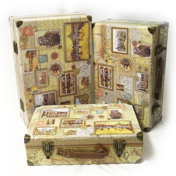 [Punch Studio]限定!ハードトランクケースセットヨーロッパの風景パンチスタジオインテリア・BOX・スーツケース