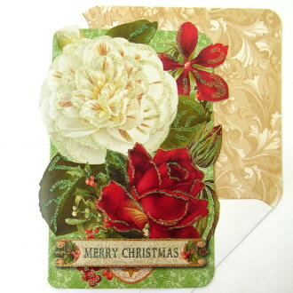 punch studio punch studio season card with 2010 christmas new year card red white rose design envelopes
