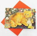 カードセットBOX アイボリーキャッツ クリスマスキャット12枚セット[Flame tree Publishing][Ivory cats]無地カード・多目的