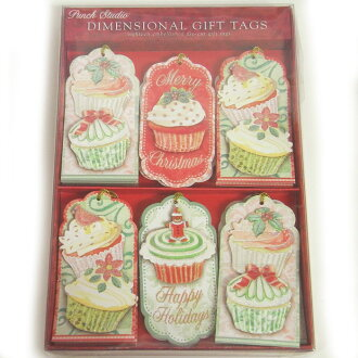 [Punch Studio] a gift tag set cupcake glitter punch studio message tag wrapping material