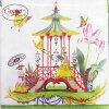 纸餐巾Garden Follies 10张装Caspari[德国制造]纸巾·剪贴画