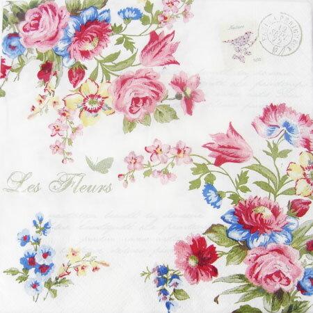 ペーパーナプキン[メール便OK]ジャーディンシークレット980-398[Nuova]ペーパーナフキン・紙ナプキン・デコパージュローズ・バラ・薔薇・花柄