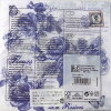 做廃番削除的#2纸餐巾蓝色玫瑰[Nuova]纸餐巾、纸巾·剪贴画玫瑰·玫瑰花、玫瑰花、花纹