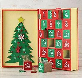 アドベントカレンダー ウッドボックスカレンダーブック 2020クリスマス限定 エリザ・ギフト・チョコ・カレンダー・カルディ