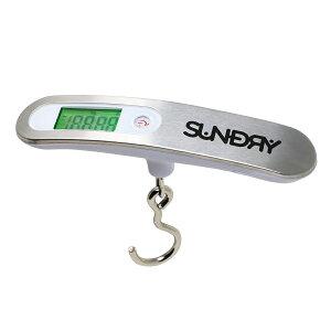 SUNDRY 吊り下げ デジタル はかり 最大 50kg まで 量れる【 送料無料 あす楽 旅行 荷物 かばん 風袋 機能 軽量 収納袋付 】