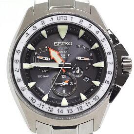 SEIKO セイコー メンズ腕時計 プロスペックス マリーンマスター オーシャンクルーザー GPS衛星電波時計 SBED003 ブラック(黒)文字盤【中古】