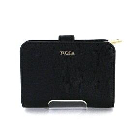 フルラ FURLA バビロン BABYLON 二つ折り財布 PBF8 ブラック ゴールド金具 コンパクトウォレット 未使用品