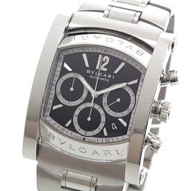 BVLGARI ブルガリ メンズ腕時計 アショーマクロノグラフ AA48SCH ブラック(黒)文字盤 OH済【中古】