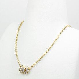ヴァンクリーフ&アーペル Van Cleef&Arpels セレスティン ダイヤモンド ネックレス K18YG K18KT 40.5cm リボン イエローゴールド VCA 仕上げ済 【中古】