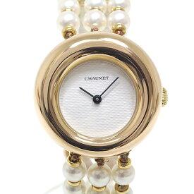 CHAUMET ショーメ レディース腕時計 アノー A1312 ホワイト(白)文字盤 クォーツ K18YG パールブレス【中古】