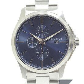 GUCCI グッチ メンズ腕時計 Gタイムレスクロノ クロノグラフ YA126273 ブルー文字盤 クォーツ 未使用品