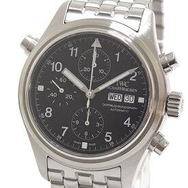 IWC メンズ腕時計 ドッペル クロノグラフ IW371319 ブラック(黒)文字盤 自動巻き【中古】