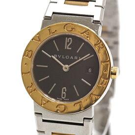 BVLGARI ブルガリ レディース腕時計 ブルガリブルガリ BB26SG ブラック(黒)文字盤 SS×YG クォーツ【中古】