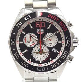 TAG HEUER タグホイヤー メンズ腕時計 フォーミュラ1 クロノグラフ インディ500 CAZ101V.BA0842 ブラック(黒)文字盤 クォーツ【中古】