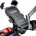 Kaedear(カエディア) スマホホルダー バイク ワイヤレス 置くだけ 充電 携帯ホルダー クイックホールド QI USB スマー…