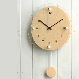 電波時計 【送料無料】 Antilles アンティール W-473 掛時計 掛け時計 振り子時計 振り子 木目 壁掛け時計 時計 クロック おしゃれ 人気 デザイン インテリア モダン ナチュラル ノア精密 楽天 224389