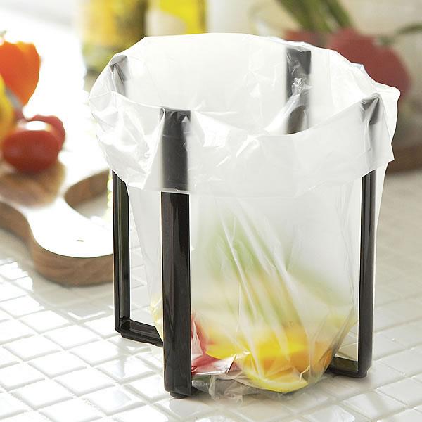 三角コーナー 袋 ポリ袋エコホルダー ゴミ箱 キッチン 簡易ゴミ箱 アウトドア テーブル えだまめ シンク上ゴミ箱 折りたたみ式 キッチンゴミ箱