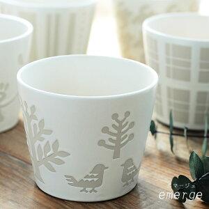 湯呑み エマージュ おしゃれ 猪口カップM 小田陶器 北欧 来客用 湯のみ 日本製 電子レンジ・食洗器対応可 白 美濃焼 かわいい