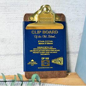 penco クリップボードO/S ゴールドミニ クリップファイル DP169 バインダー クリップボード かっこいい かわいい ペンコ ミニサイズ オシャレ ボード 新生活 文房具 会議 打ち合わせ メモ