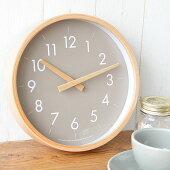掛け時計creerクレエCAMPASキャンパスウォールクロックS壁掛け時計木製インテリア音がしない木目北欧ナチュラルシンプル寝室リビング丸形クロックプレゼントウッド