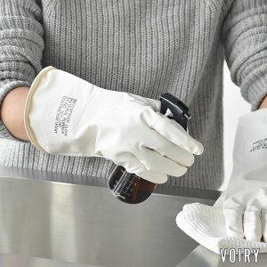 VOIRY RUBBER GLOVES ゴム手袋 ヴォイリーストア キッチン手袋 お掃除用手袋 ラバーグローブ 大掃除 滑り止め シンプル おしゃれ 食器洗い ガーデニング 手袋 家事 ホワイト お皿洗い