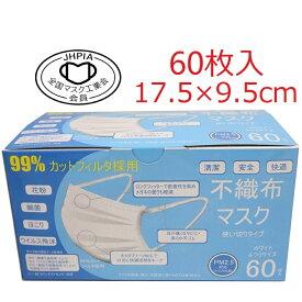 ※緊急事態宣言応援!※KAEI3層オメガプリーツマスク普通サイズ(約17.5×9.5cm)60枚入BFE/PFE/VFE99%高性能不織布採用・マスク工業会正会員