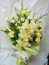 【お供え 花】【お供え 花束】【法事 お供え】【供花 一周忌】【お悔やみ 花】「季節の枝ものと洋蘭のお供え花束2Lサ…