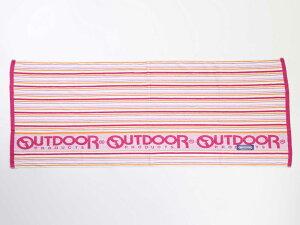 OUTDOOR アウトドア バスタオル 約70x140cm ブランドレジャーバスタオル 大判サイズ  ODT-967 (ピンク)