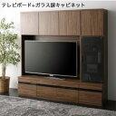 ハイタイプテレビボードシリーズ Glass line グラスライン 2点セット(テレビボード+キャビネット) ガラス扉[L][00]