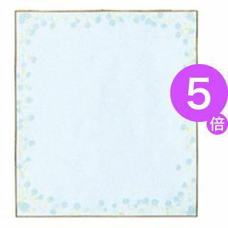 ■5倍ポイント■(業務用200セット) ミドリ 色紙 33123006 小花柄ブルー[21]