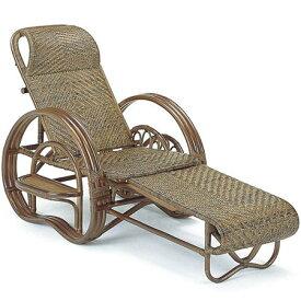 籐三つ折リクライニング寝椅子 a202b