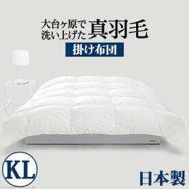 スペイン産ホワイトダック 成熟羽毛寝具シリーズ 真羽毛 掛け布団 キング ロングサイズ