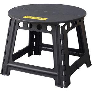 送料無料 クラフターテーブル サークル ブラック 直径58cm 丸型 折りたたみテーブル 持ち運び テーブル アウトドア キャンプ 屋外テーブル ガーデン 庭 バーベキュー BBQ 軽量 作業机 作業台