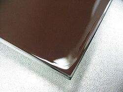 鏡・板鏡(楕円形・正円形)(スーパークリアーミラー)(防湿加工鏡)(板厚5ミリ)(糸面取り加工)
