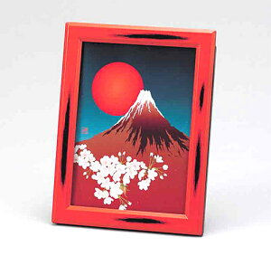 山中塗り の写真たて フォトフレーム 絵はがきフォトフレーム(写真10.4x14.7cm:絵葉書サイズ):h2700ph-d