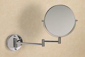 鏡 ミラー スイングミラー アームミラー スウィングミラー エクステンションミラー ホテルミラー 拡大鏡 両面 両面鏡:g-6g7061k0(片面が拡大鏡)