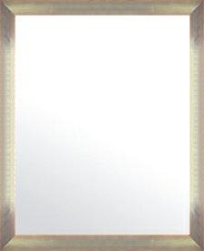 シルバー 銀 銀箔 仕立ての 鏡 ミラー 壁掛け鏡 壁掛けミラー ウオールミラー:マルタ シルバー&オレンジ 468mmx568mm(フレームミラー 壁掛け 壁付け 姿見 姿見鏡 壁 おしゃれ エレガント 化粧鏡 アンティーク 玄関 玄関鏡 洗面所 トイレ 寝室 )