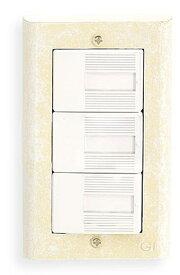 スイッチプレート スイッチカバー コンセントプレート コンセントカバー(ホワイトアンティーク仕上げ)(コスモスイッチ タイプ ワイドタイプ):g-7g9023k1