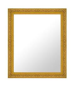 ゴールド 金 金箔 仕立ての 鏡 ミラー 壁掛け鏡 壁掛けミラー ウオールミラー:D-K355G-495mmx596mm(フレームミラー 壁掛け 壁付け 姿見 姿見鏡 壁 おしゃれ エレガント 化粧鏡 アンティーク 玄関 玄関鏡 洗面所 トイレ 寝室 )