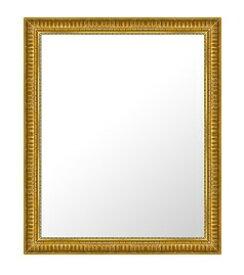 ゴールド 金 金箔 仕立ての 鏡 ミラー 壁掛け鏡 壁掛けミラー ウオールミラー:A-682G-475mmx576mm(フレームミラー 壁掛け 壁付け 姿見 姿見鏡 壁 おしゃれ エレガント 化粧鏡 アンティーク 玄関 玄関鏡 洗面所 トイレ 寝室 )