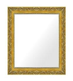 ゴールド 金 金箔 仕立ての 鏡 ミラー 壁掛け鏡 壁掛けミラー ウオールミラー:I-K700G-441mmx543mm(フレームミラー 壁掛け 壁付け 姿見 姿見鏡 壁 おしゃれ エレガント 化粧鏡 アンティーク 玄関 玄関鏡 洗面所 トイレ 寝室 )