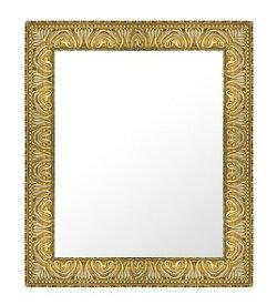 ゴールド 金 金箔 仕立ての 鏡 ミラー 壁掛け鏡 壁掛けミラー ウオールミラー:34-6539-445mmx547mm(フレームミラー 壁掛け 壁付け 姿見 姿見鏡 壁 おしゃれ エレガント 化粧鏡 アンティーク 玄関 玄関鏡 洗面所 トイレ 寝室 )