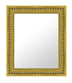 ゴールド 金 金箔 仕立ての 鏡 ミラー 壁掛け鏡 壁掛けミラー ウオールミラー:32-6540-425mmx527mm(フレームミラー 壁掛け 壁付け 姿見 姿見鏡 壁 おしゃれ エレガント 化粧鏡 アンティーク 玄関 玄関鏡 洗面所 トイレ 寝室 )
