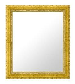 ゴールド 金 金箔 仕立ての 鏡 ミラー 壁掛け鏡 壁掛けミラー ウオールミラー:E-20076-405mmx507mm(フレームミラー 壁掛け 壁付け 姿見 姿見鏡 壁 おしゃれ エレガント 化粧鏡 アンティーク 玄関 玄関鏡 洗面所 トイレ 寝室 )