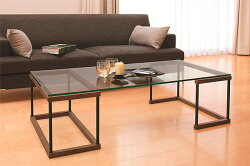 ガラステーブル、センター・テーブル、リビング・テーブル、ロー・テーブル:WaT-1r7