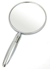 鏡 ミラー 手鏡 コンパクトミラー ハンドミラー シンプル コンパクト鏡 かわいい:HdM602SdV(両面鏡 片面拡大鏡 5倍率)